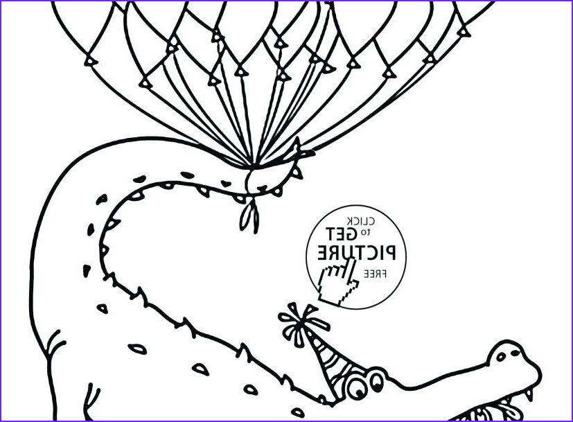 happy birthday balloons coloring pages