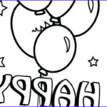 Birthday Balloons Coloring Pages New Images Happy Birthday Balloons Coloring Pages At Getcolorings