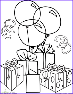 Color the Birthday Gifts