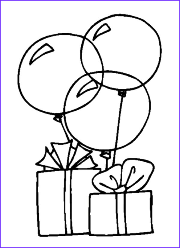 Birthday Balloons Coloring Pages Unique Collection Colorful Birthday Balloons Coloring Pages