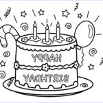 Birthday Cake Coloring Luxury Gallery Free Printable Birthday Cake Coloring Pages for Kids