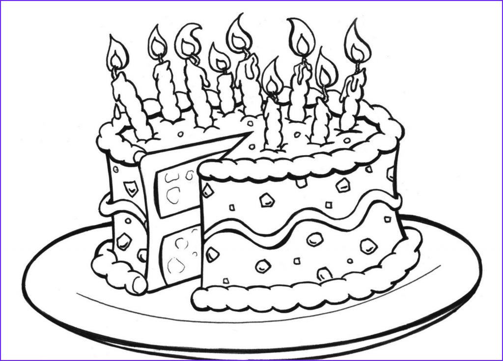 Birthday Coloring Page Awesome Photos Free Printable Birthday Cake Coloring Pages for Kids