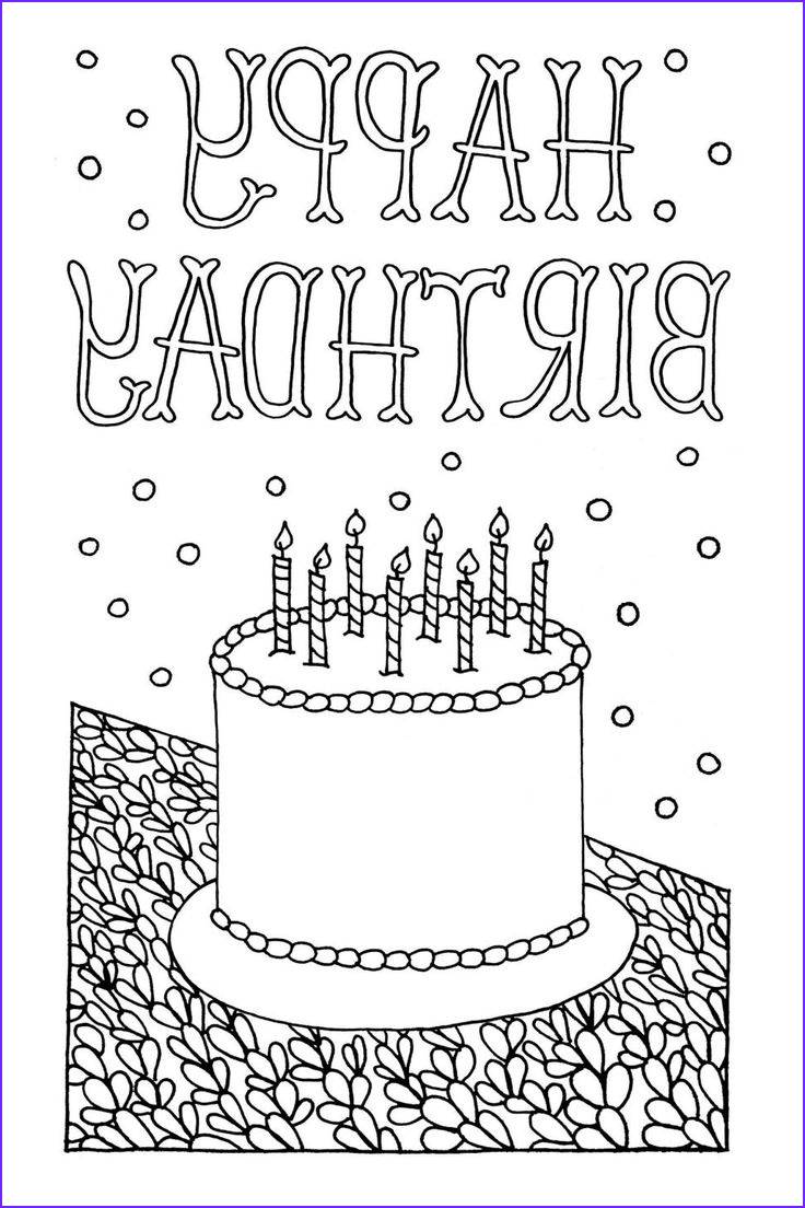 Birthday Coloring Pages Printable Awesome Photography Free Downloadable Adult Coloring Greeting Cards