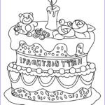 Birthday Coloring Pages Printable Awesome Stock Free Printable Birthday Cake Coloring Pages For Kids