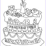 Birthday Coloring Pages Printable Beautiful Collection Birthday Cake Coloring Pages Hellokids
