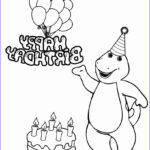Birthday Coloring Pages Printable Luxury Gallery Free Printable Barney Coloring Pages For Kids