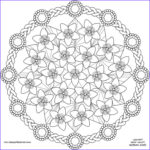 Black And White Coloring Pages For Adults Beautiful Stock Spring Flower Mandala Coloring Pages Pattern Mandala