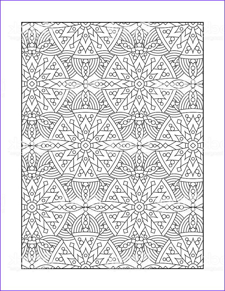 coloring page for adults or black and white ornamental background gm