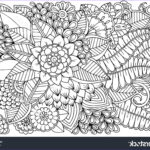 Black And White Coloring Pages For Adults Best Of Photos Black White Flower Pattern Adult Coloring Stock Vector