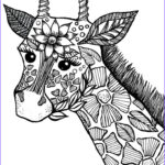 Black And White Coloring Pages For Adults Cool Image Giraffe Adult Coloring Book Page