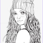 Black And White Coloring Pages For Adults Elegant Photography Cute Girl Coloring Book Page For Adult A4 Size Black And