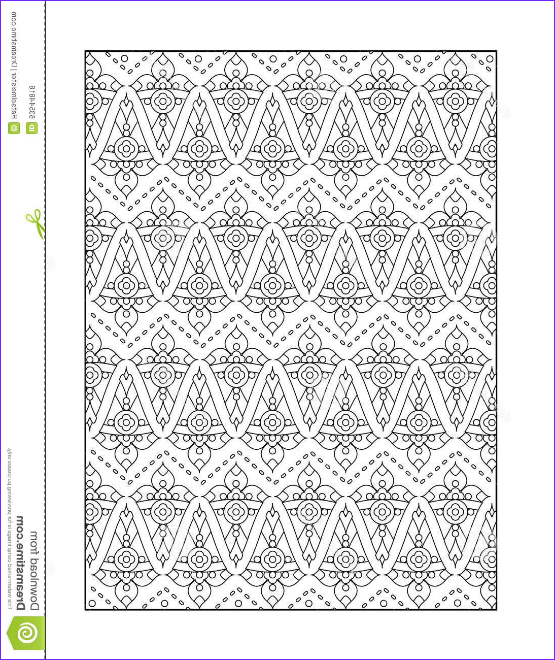 stock illustration coloring page adults black white ornamental background pattern children ok too monochrome decorative image