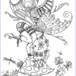 Black And White Coloring Pages For Adults New Images Fairy On A Toadstool By Welshpixie Deviantart Fairy Myth