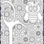 Black And White Coloring Pages For Adults Unique Images Decorative Owl Adult Anti Stress Coloring Page Black And