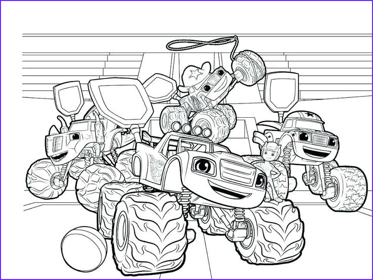 Blaze and the Monster Machine Coloring Pages Unique Photos Blaze and the Monster Machines Coloring Pages
