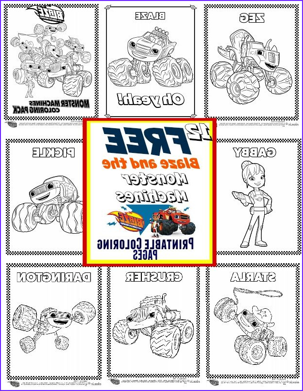 Blaze and the Monster Machines Coloring Pages Beautiful Collection Blaze and the Monster Machines Party Ideas Free