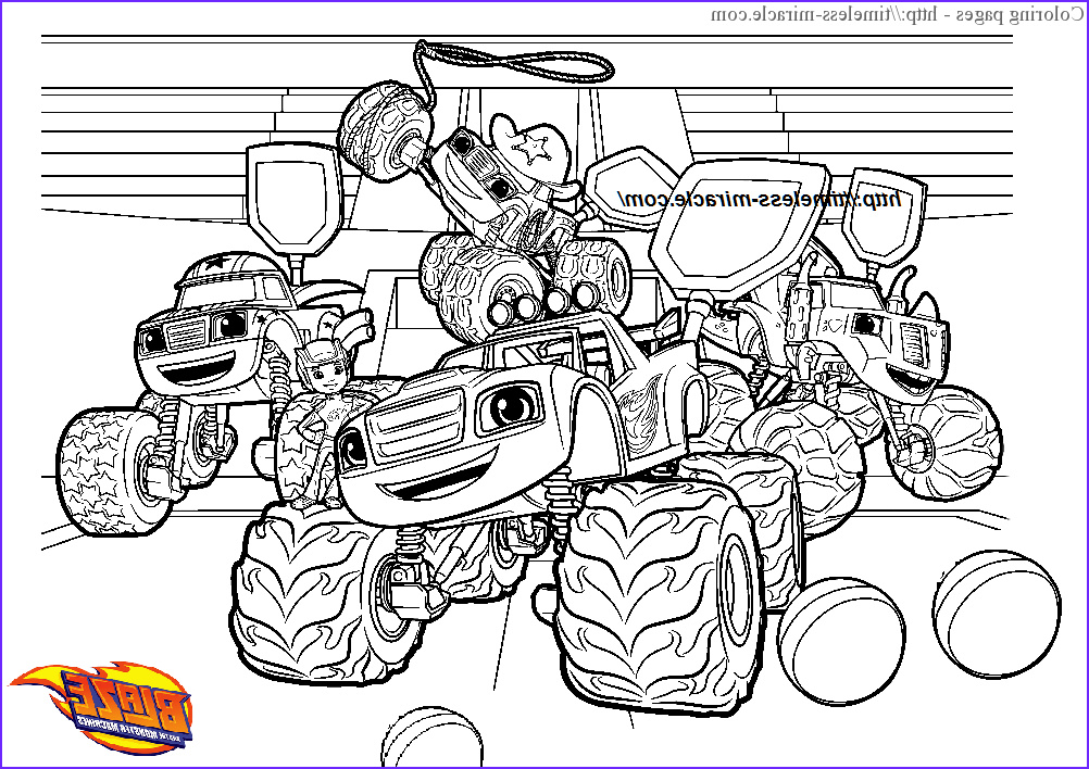 Blaze and the Monster Machines Coloring Pages Beautiful Photography Blaze Printable Page Timeless Miracle