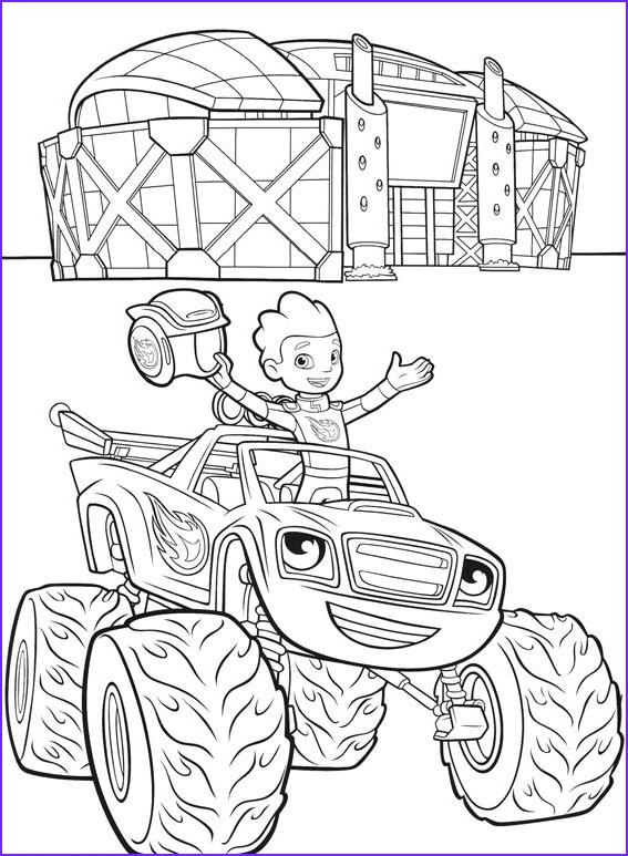 Blaze and the Monster Machines Coloring Pages Luxury Collection Aj Blaze Coloring Page Free Printable Coloring Pages