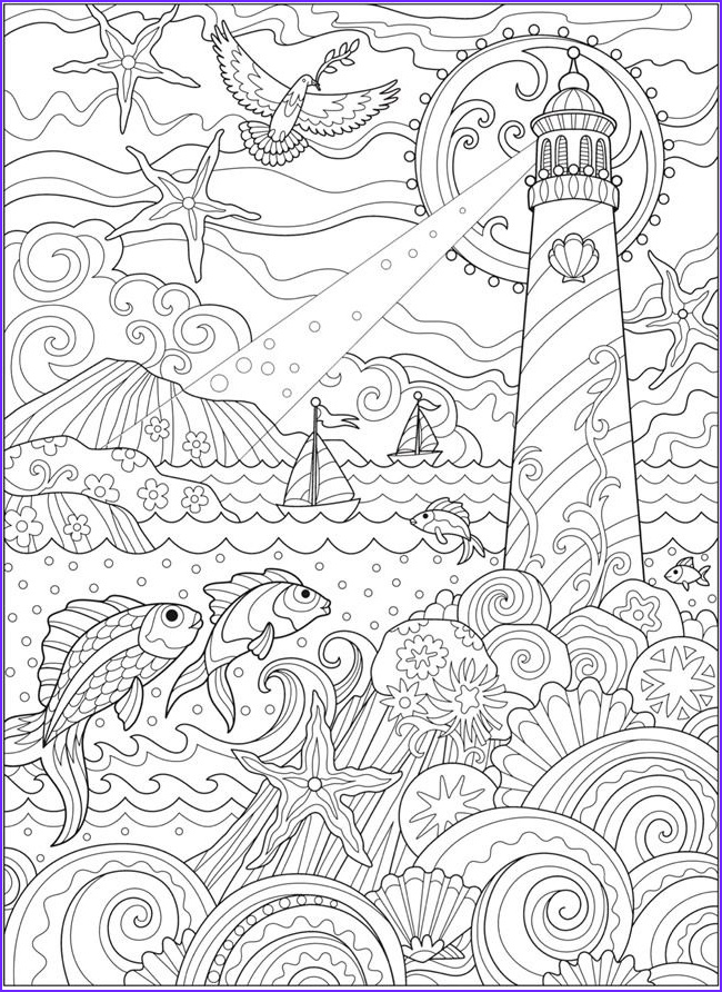 Book Of Life Coloring Pages Best Of Image Wel E to Dover Publications Ch Fanciful Sea Life