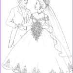 Bride And Groom Coloring Pages Best Of Stock Flower
