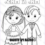 Bride And Groom Coloring Pages Unique Photography Instant Download Printable Bride Groom Wedding Coloring Page