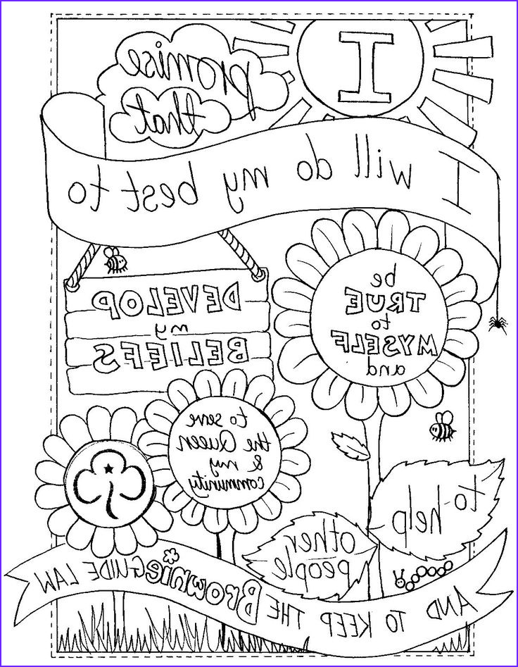 Brownie Girl Scout Coloring Pages Beautiful Photography Uk Brownie Promise Colouring Sheet Created by Emyb Emy