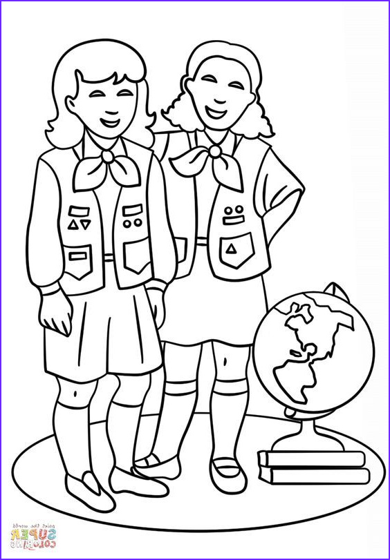 Brownie Girl Scout Coloring Pages Cool Photos Brownie Girls Scout Coloring Page From Girl Scouts