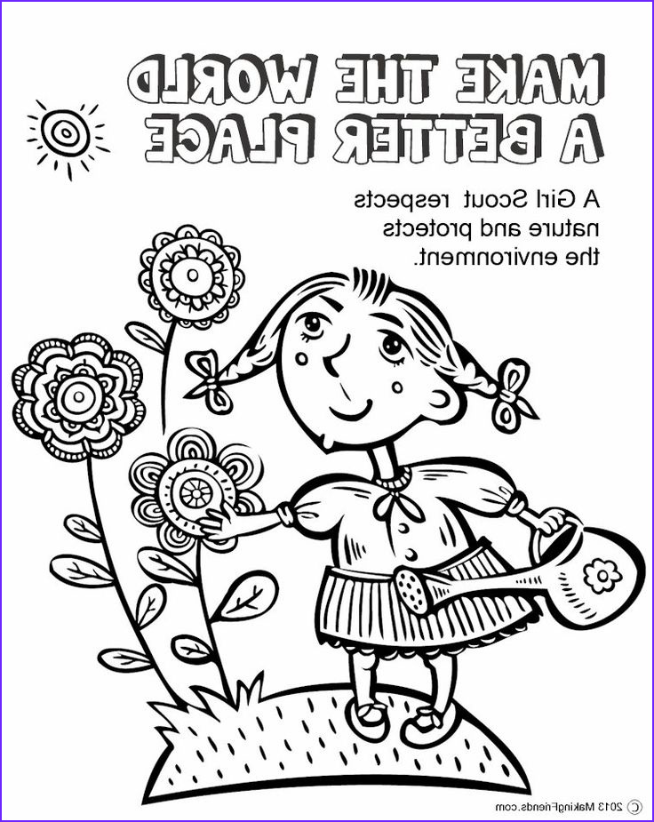Brownie Girl Scout Coloring Pages Inspirational Photos Girl Scouts Make the World A Better Place This Coloring