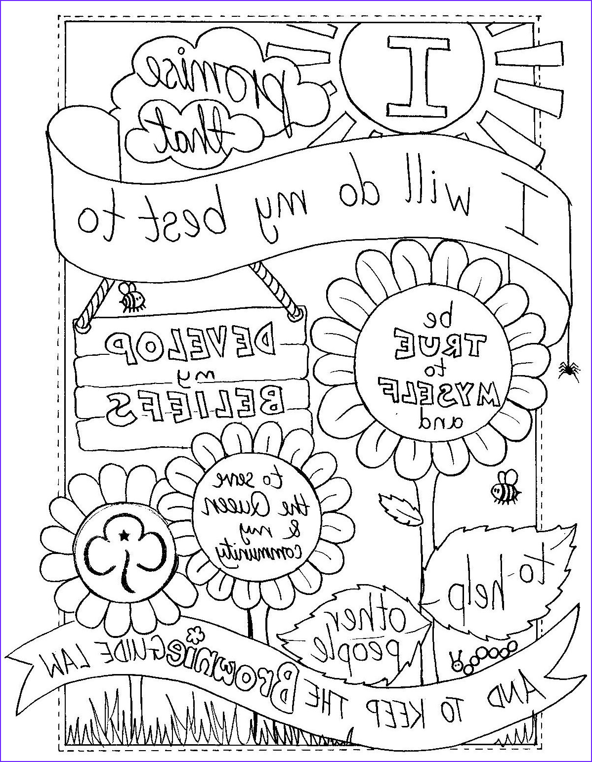 Brownie Girl Scout Coloring Pages Luxury Photos Might Be Retro