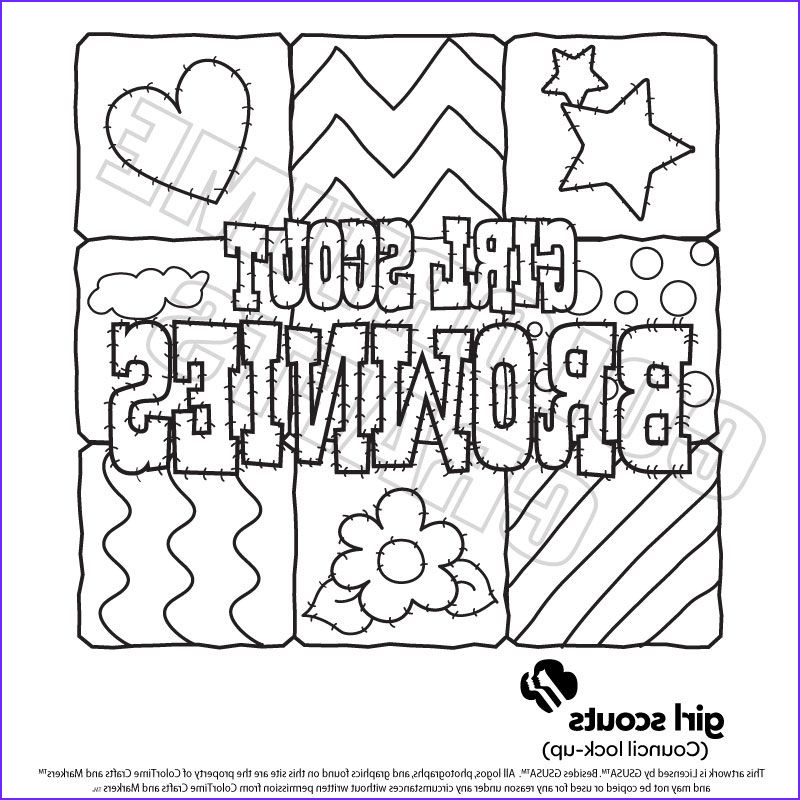 Brownie Girl Scout Coloring Pages Unique Photos Girl Scout Coloring Pages for Brownies
