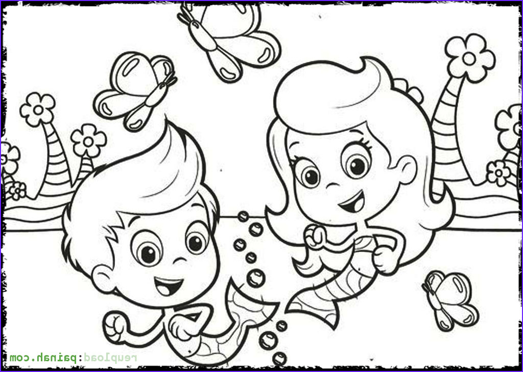 Bubble Coloring Cool Collection Underwater Mermaid School Bubble Guppies 20 Bubble Guppies