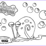 Bubbles Coloring Awesome Images Gary The Snail Outline Coloring Pages Color Luna