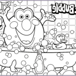 Bubbles Coloring Beautiful Stock Bath Time 3d Coloring Pages