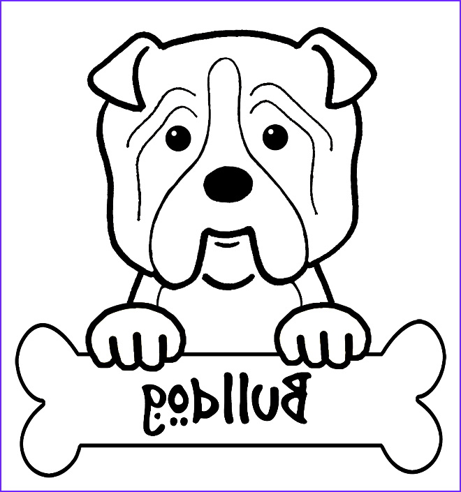 Bull Dog Coloring Pages Beautiful Collection Bulldog Coloring Coloring Home
