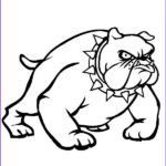 Bulldog Coloring Page Elegant Collection Bulldog Wearing Spikey Necklace Coloring Pages