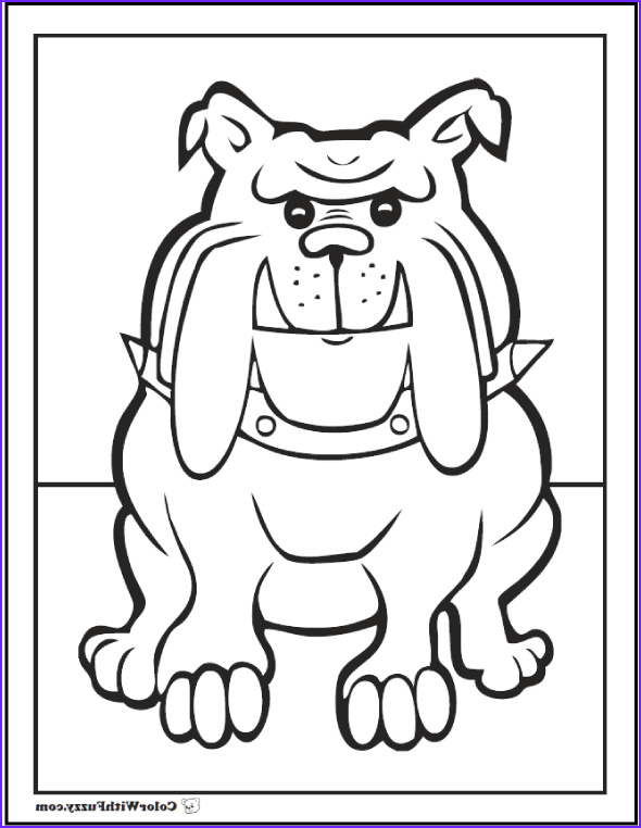 Bulldog Coloring Pages Best Of Photos 35 Dog Coloring Pages Breeds Bones and Dog Houses