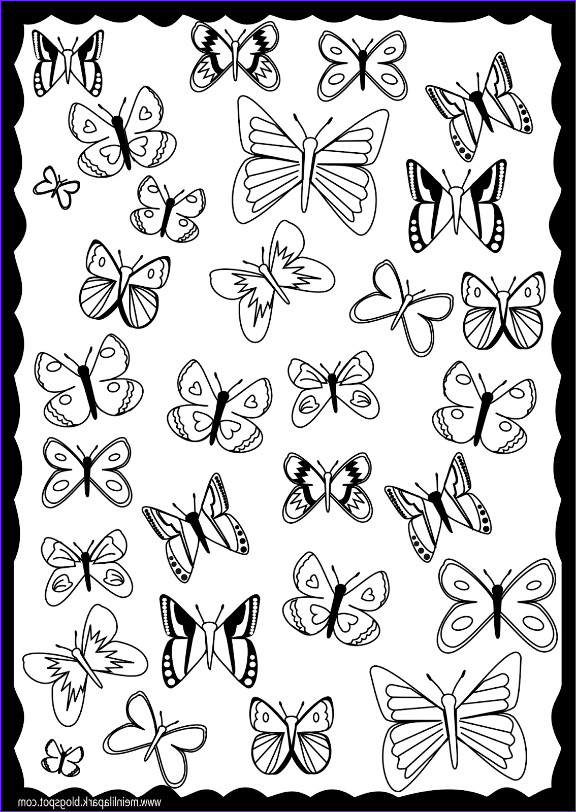 Butterfly Coloring Pages Cool Collection Free Printable butterfly Coloring Page Ausdruckbare