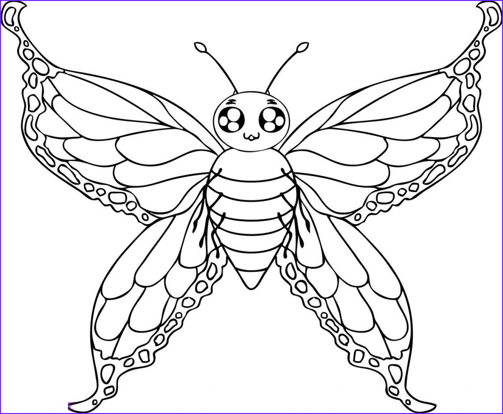 Butterfly Coloring Pages Cool Stock Free Printable butterfly Coloring Pages for Kids