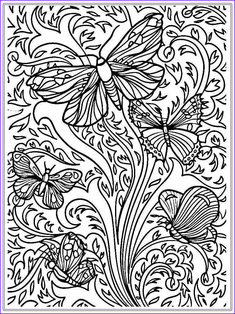detailed butterfly adult coloring pages