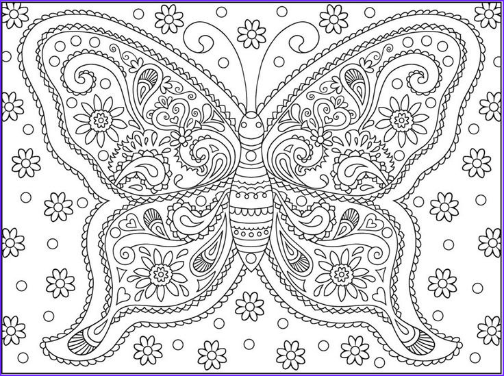 Butterfly Coloring Pages For Adults Beautiful Photos Detailed Adult Coloring Pages Printable Butterfly 3120