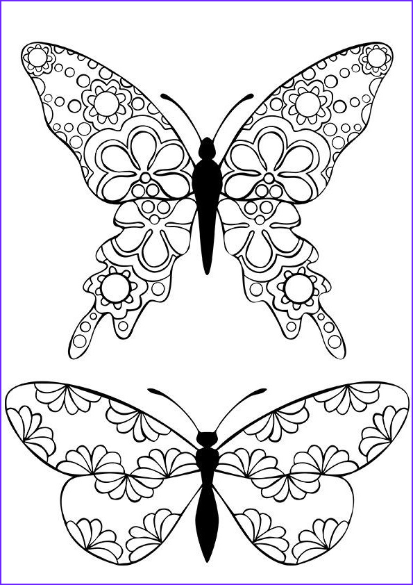 Butterfly Coloring Pages For Adults Beautiful Photos Relive Your Childhood Free Printable Coloring Pages For