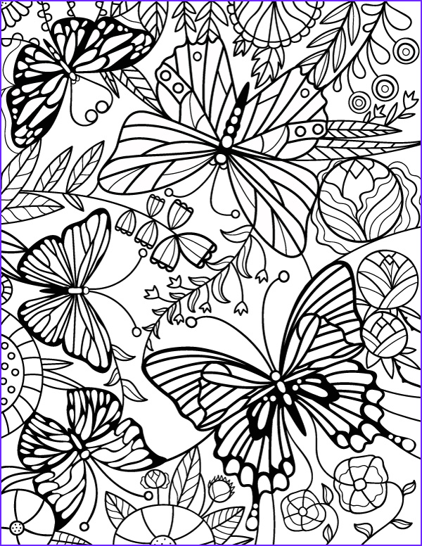 stained glass butterfly coloring page