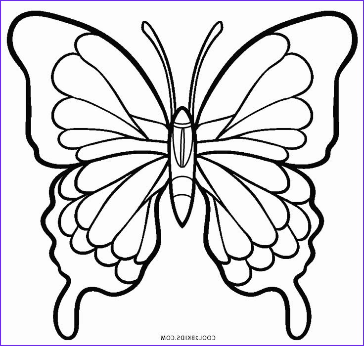 Butterfly Coloring Pages Luxury Photos Printable butterfly Coloring Pages for Kids