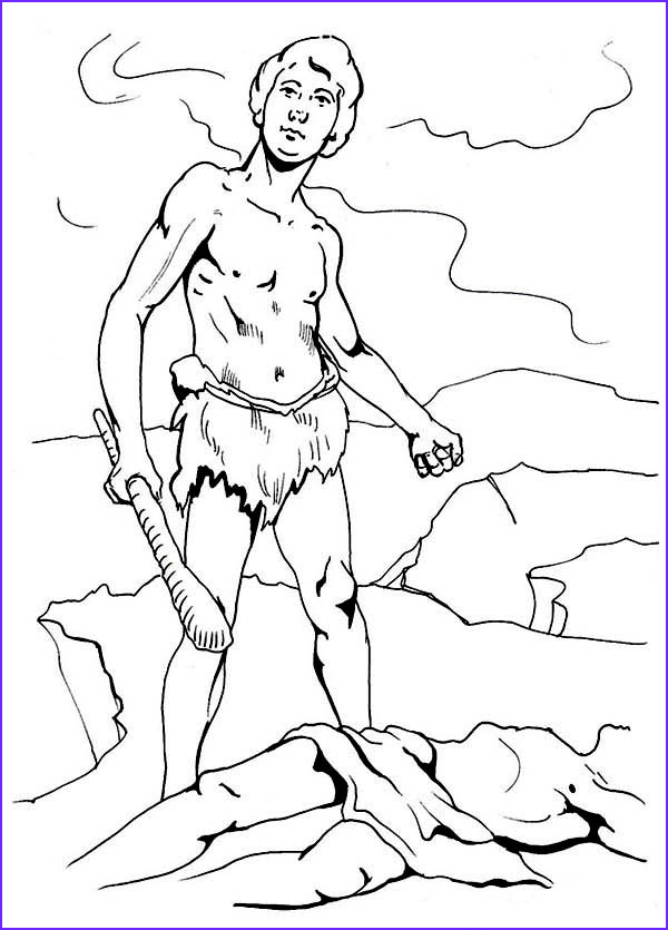 cain had kill abel in abel and cain coloring page