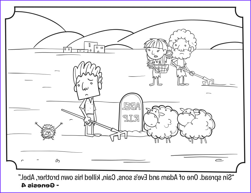 Cain and Abel Coloring Page Awesome Photos Free Printable Sunday School Coloring Pages