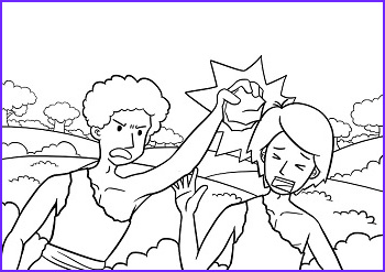 Cain and Abel Coloring Page Cool Stock Cain and Abel Coloring Pages
