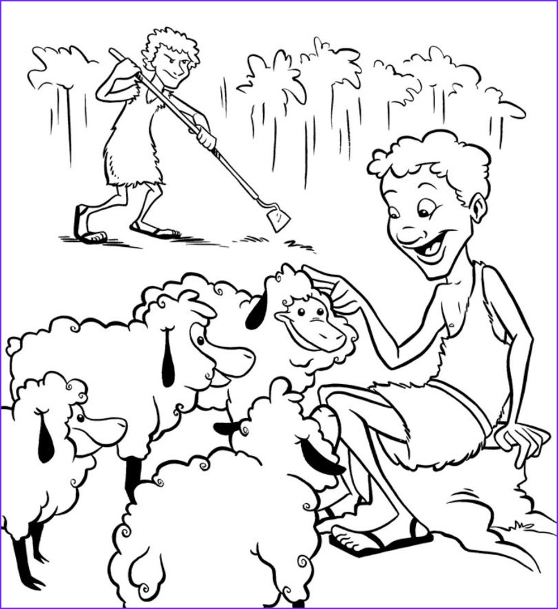 Cain and Abel Coloring Pages Beautiful Photos Cain and Abel Coloring Pages Cain and Abel