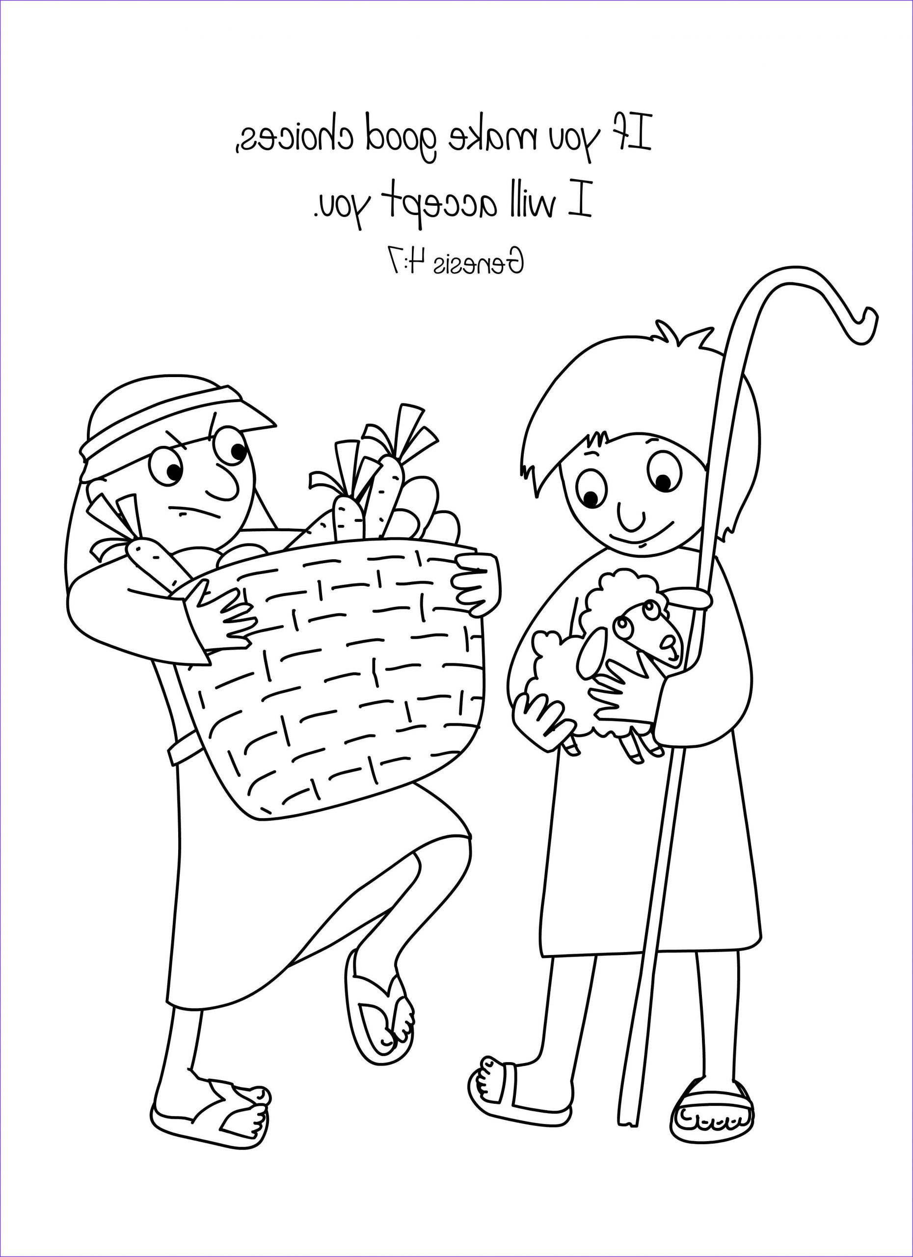 Cain and Abel Coloring Pages Inspirational Images Cain and Abel Bible Coloring Page Free Download