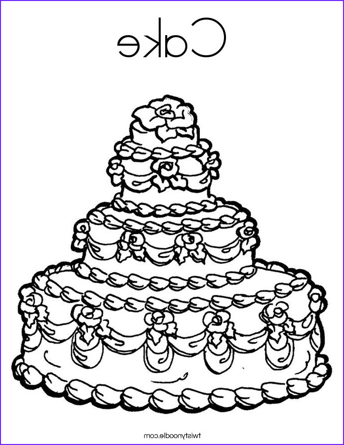 cake 3 coloring page