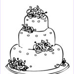 Cake Coloring Luxury Images Round Wedding Cake Coloring Pages To Printing